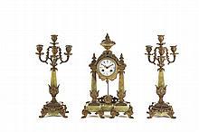 Garniture com relógio, séc. XIX
