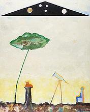 PARENTE, 1984, óleo sobre tela, 100 x 81 cm