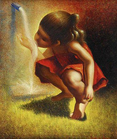Jaime de Jaraiz (n. 1956), Menina a beber água, ól