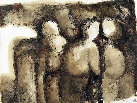 Maria Fernanda Amado, guache s/papel, 35x47cm.