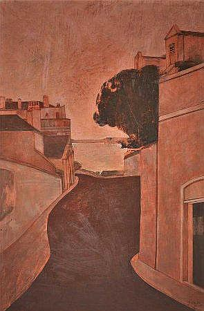 Nikias, Vista de Lisboa, óleo s/tela, 81 x 54 cm.