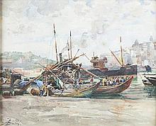 Alves de Sá, Rio Douro, aguarela s/papel, 22x28 cm