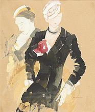 ANTÓNIO SOARES, Guache s/papel, 44 x 36 cm.