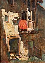 LÁZARO LOZANO, Óleo s/madeira, 46 x 33 cm.