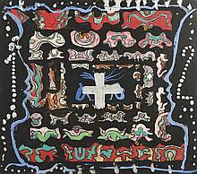 ESCADA, José, Guache s/papel, 39 x 44 cm.
