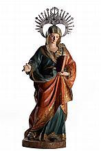 N. Sra., esc. em madeira, séc. XVII/XVIII