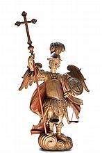 S. Miguel arcanjo, esc. em madeira, séc. XVII