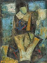JOSÉ JÚLIO, mista sobre papel, 39 x 29,5 cm.