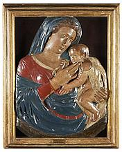 N. Sra. c/ Menino Jesus, Esc. em terracota, XVI