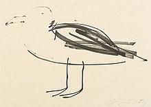 JÚLIO POMAR, tinta sobre papel, 26,5 x 37 cm