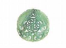 Medalhão vazado em pedra dura