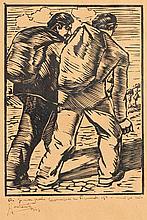 José Contente, Desenho sobre papel, 18 x 13 cm.