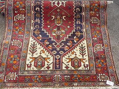 A modern Hamadan carpet, cream/red ground, approx.