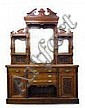 A Victorian walnut mirror-back sideboard with