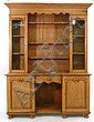 A 19th century moulded oak dresser with glazed and