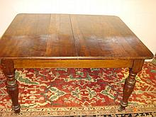 Substantial Jacobean Influence Oak Dining Table: