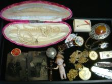 24 Pieces of Ladies' and Men's Costume Jewelry: