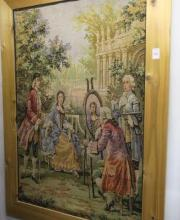 Scenic Wall Tapestry of Female and Artist: