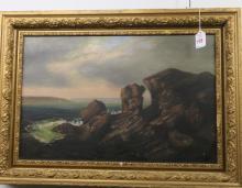 Oil on Canvas Waterscape Scene: