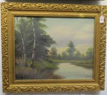 Oil on Canvas Landscape Signed T. Bailey