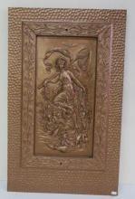 CA. 1880 Cast Iron Figural Fireback: