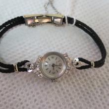 14KT White Gold Ladies BULOVA Watch with Diamonds: