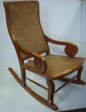 Woven Seat and Back Rocking Chair: