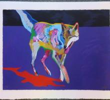 Signed JOHN NEITO Coyote Serigraph: