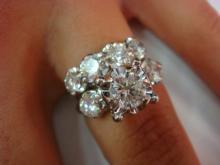 14K White Gold & Diamond Engagement and Wedding Rings: