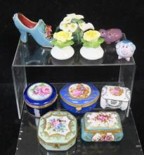 Miniature Porcelain Pillboxes and Table Toppers: