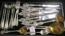 Sterling and Silver-plate Flatware: