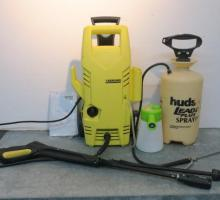 KARCHER Power Washer and Two Hand Sprayers:
