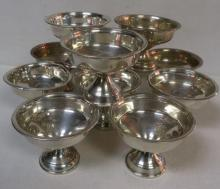 Eleven NATIONAL SILVER CO Sterling Champagne/Sherbets: