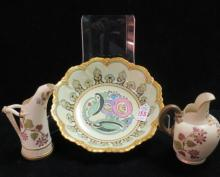 Two ROYAL WORCESTER Jugs and German Art Deco Bowl: