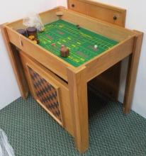 Oak Three Part Game Table: