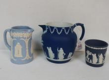 WEDGWOOD and DUDSON Jasperware Jugs and Beaker: