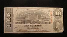 Confederate $10 Note, April 6th 1863: