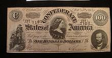 Confederate $100 Note, February 17, 1864: