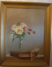 FEDERICK McDUFF, Floral Still-life, Oil on Canvas:
