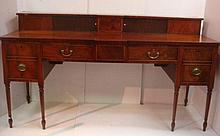 Elegant 19th Century Buffet with Tambour & Inlay: