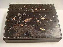 Japanese Meiji Period Lacquered with MOP Lap Desk: