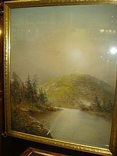 Signed GEORGE DOUGLAS BREWERTON Pastel Landscape:
