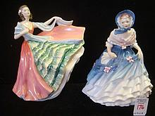 ROYAL DOULTON Alice and Ann Figurines: