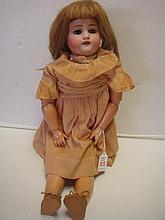 German KESTNER Compo Bisque Head Doll Marked E 168.9: