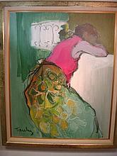 ITZCHAK TARKAY Female Acrylic on Canvas: