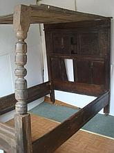 TUDOR PERIOD BED, CA 1580, Rare Historical Piece: