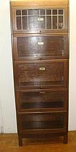 LUNDSTROM BARRISTER Bookcases with Leaded Glass Front: