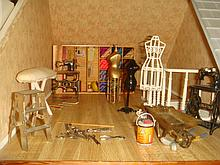 Dollhouse Furniture, Sewing Room-1/35th Scale: