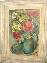 G.SANDMAN Signed Floral Still Life on Board: