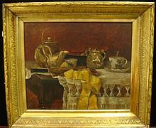 Artist Signed Still Life Oil on Canvas